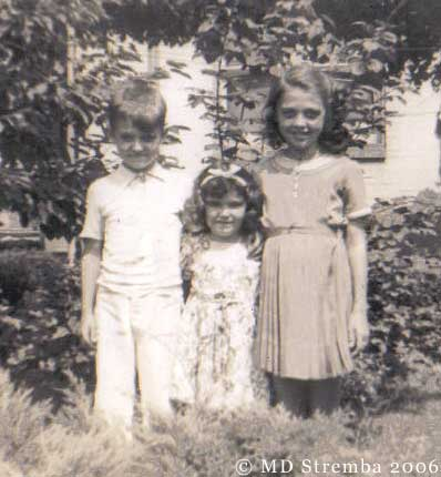 John, Elaine, and Theresa Stremba, Reading, PA, 1941