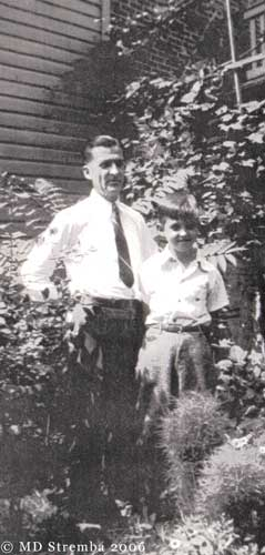 Dad Stremba with oldest son, John, Reading, PA, 1942