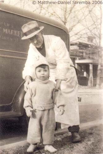 A north-of-Penn lady wanted a photo of her child with their meat cutter, John Stremba, posed in front of Delp's truck