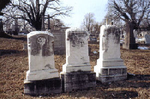 Three Hall tombstones, Loudon Park, 25 January 2008