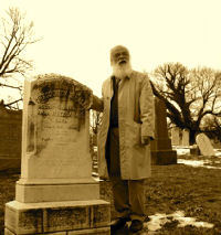 Tod Hall's tombstone, Loudon Park, 25 January 2008. Credit: Charleye Dyer